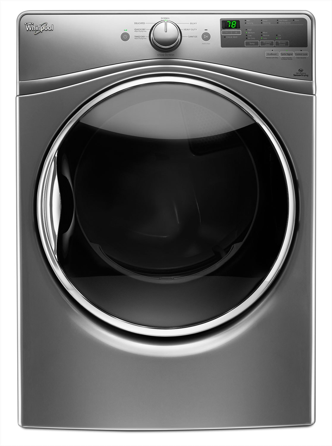 Washers and Dryers - Whirlpool Chrome Shadow Gas Dryer (7.4 Cu. Ft.) - WGD85HEFC