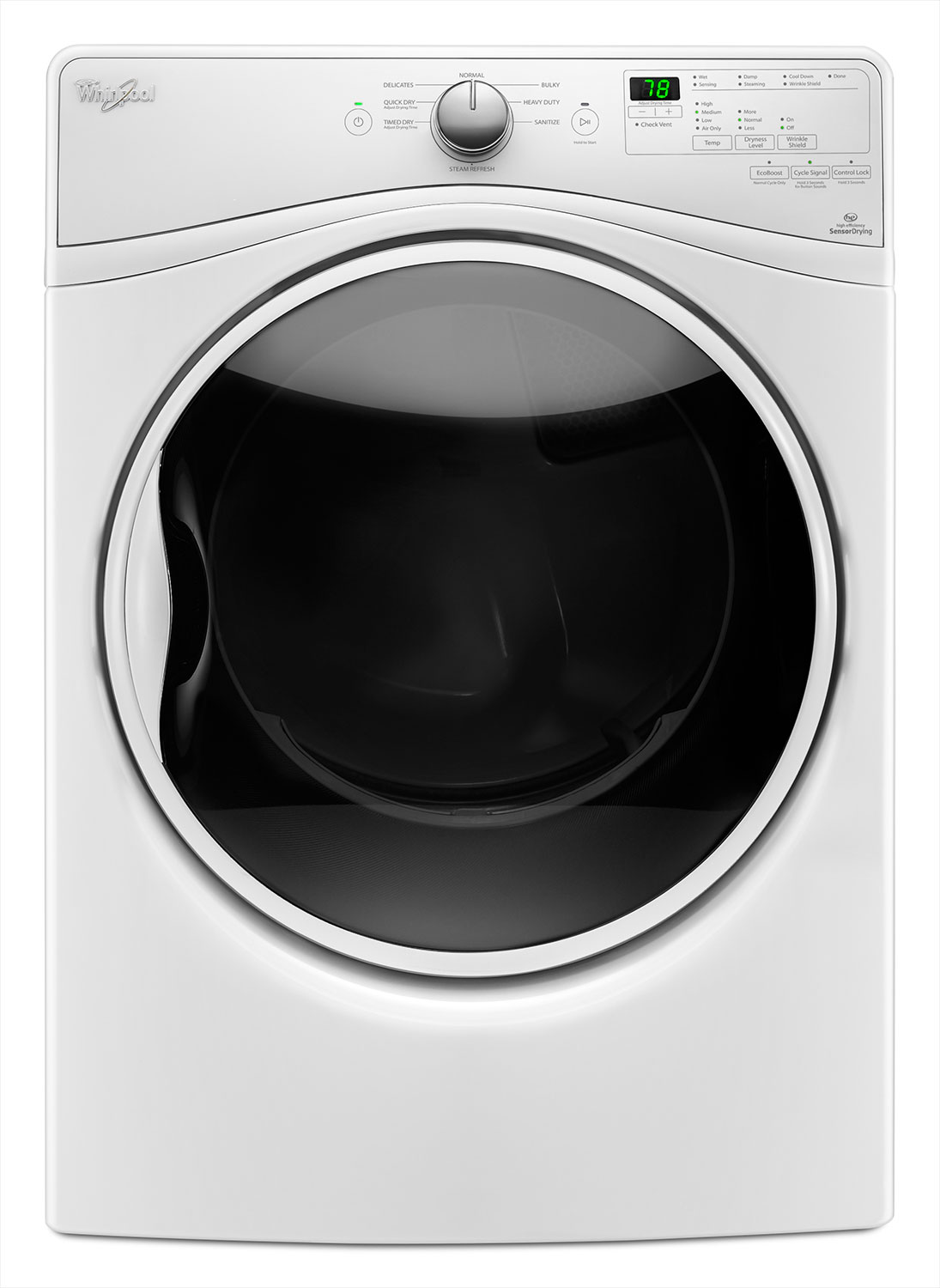 Washers and Dryers - Whirlpool 8.5 Cu. Ft. Gas Steam Dryer – WGD85HEFW