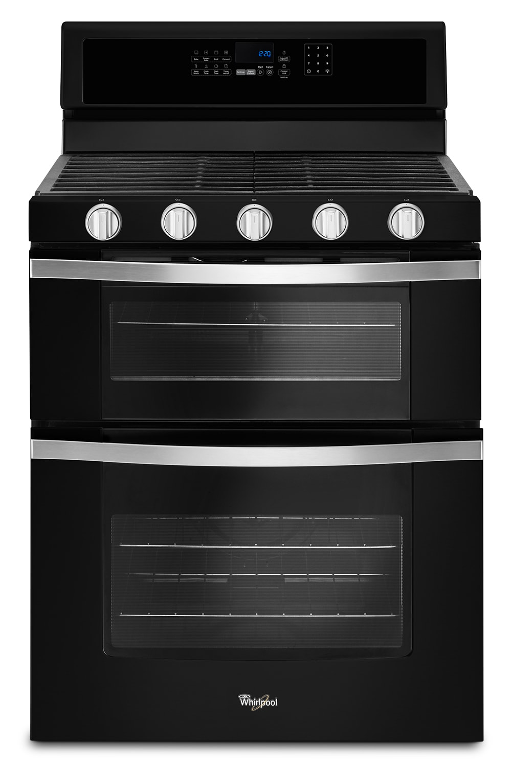 Cooking Products - Whirlpool Black Freestanding Double Gas Range (6.0 Cu. Ft.) - WGG745S0FE