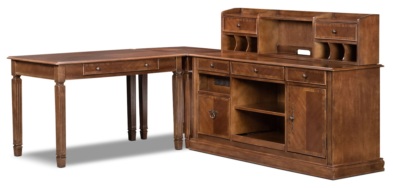 Home Office Furniture - Hamlyn 4-Piece Desk Package