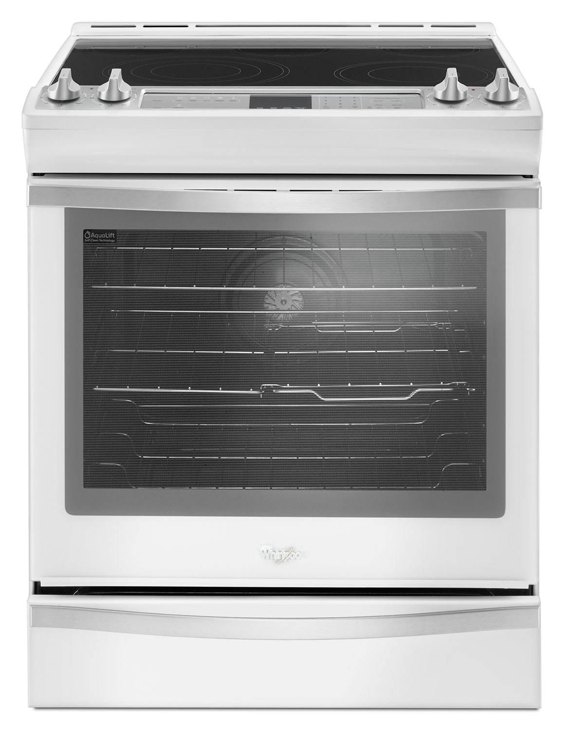 Cooking Products - Whirlpool White Slide-In Electric Range (6.4 Cu. Ft.) - YWEE745H0FH
