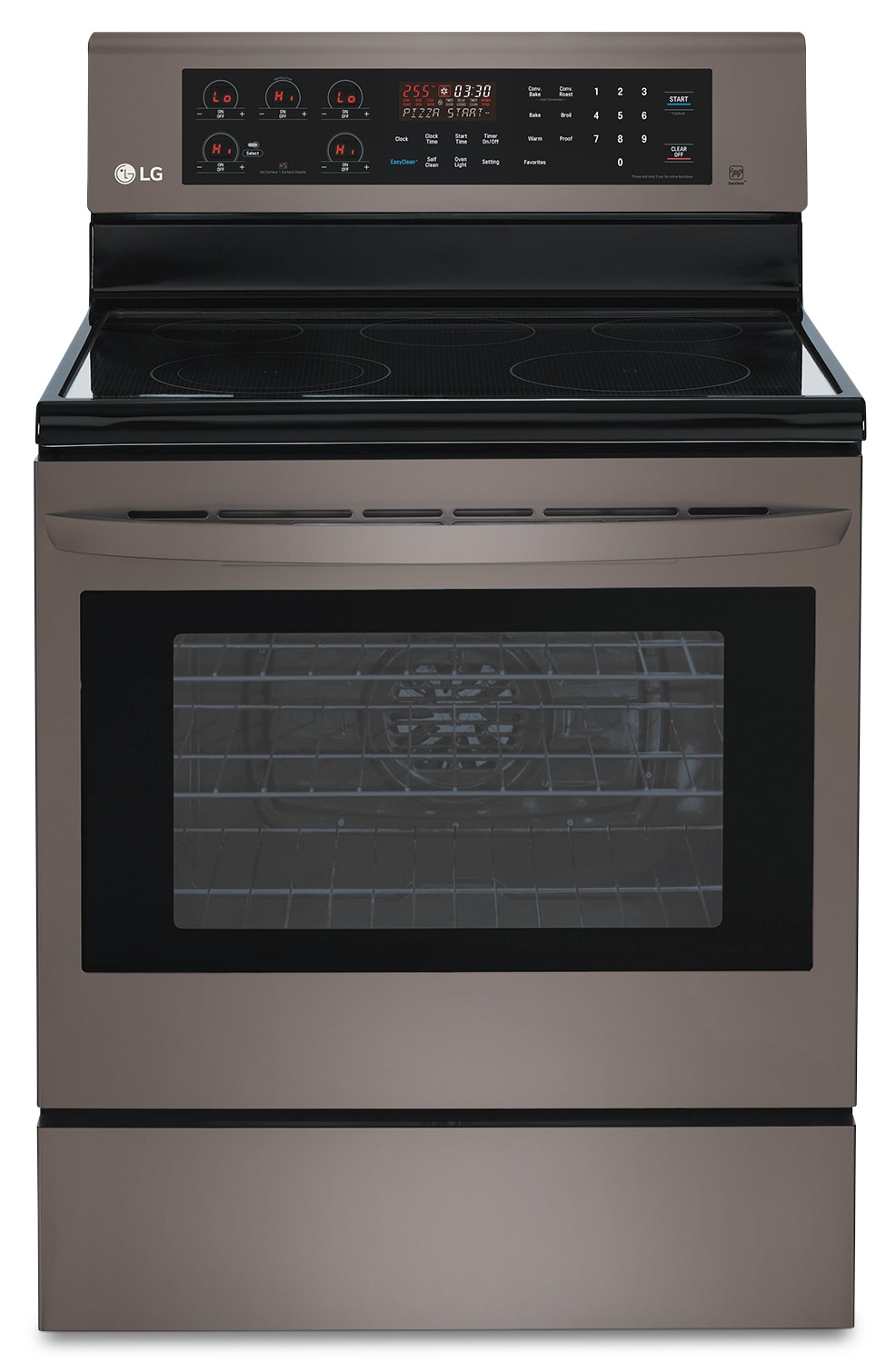 Cooking Products - LG 6.3 Cu. Ft. Freestanding Electric Range – Black Stainless Steel LRE6383BD