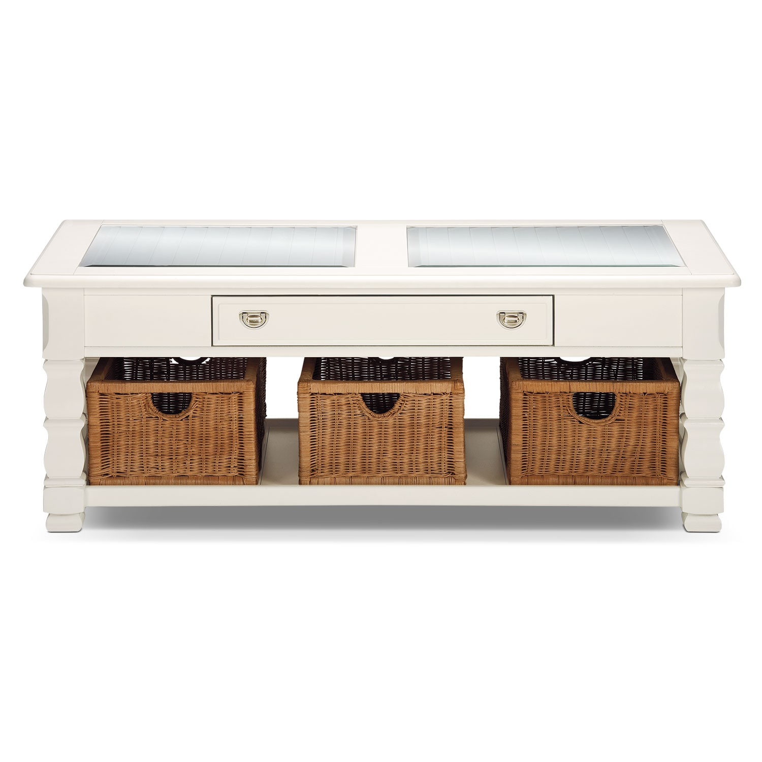 Plantation Cove Cocktail Table White American