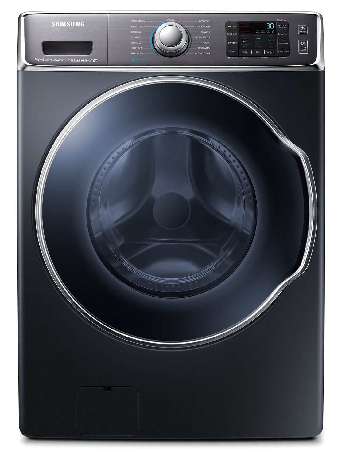 Washers and Dryers - Samsung Charcoal Front-Load Washer (6.5 Cu. Ft. IEC) - WF56H9100AG