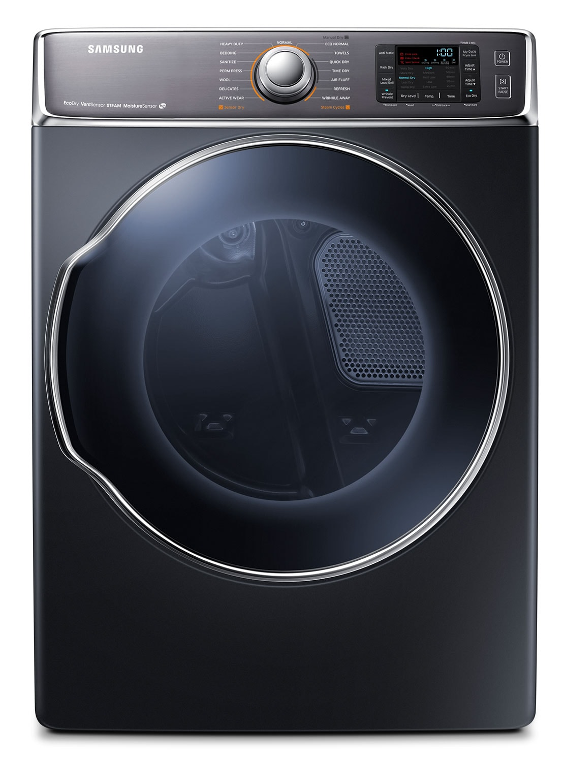 Washers and Dryers - Samsung Charcoal Electric Dryer (9.5 Cu. Ft.) - DV56H9100EG