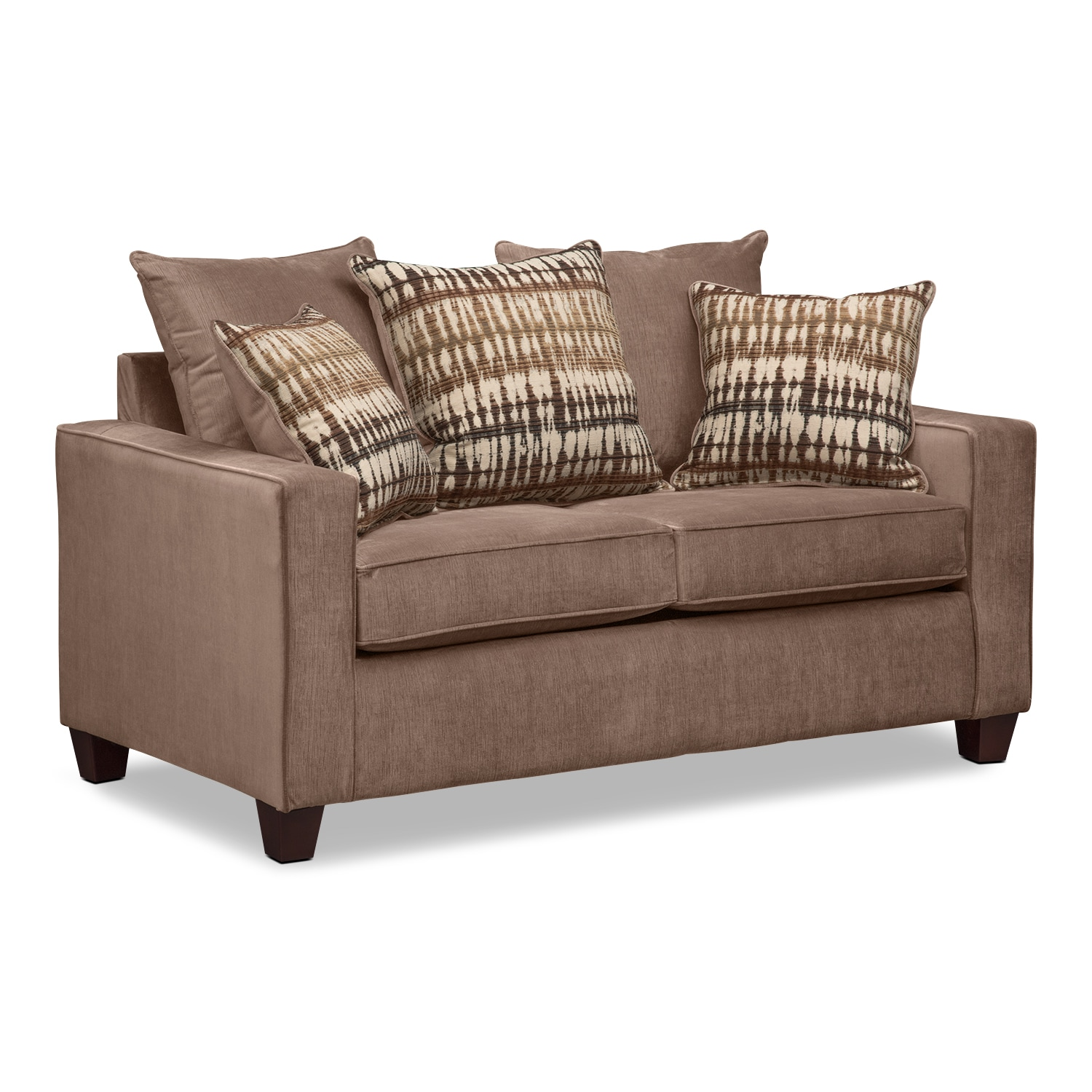 Bryden Queen Memory Foam Sleeper Sofa And Loveseat Set Chocolate American Signature Furniture