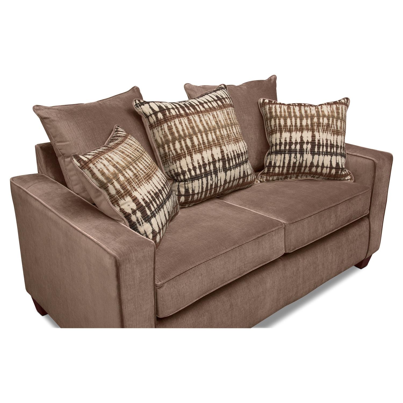 Bryden Queen Innerspring Sleeper Sofa And Loveseat Set Chocolate Value City Furniture