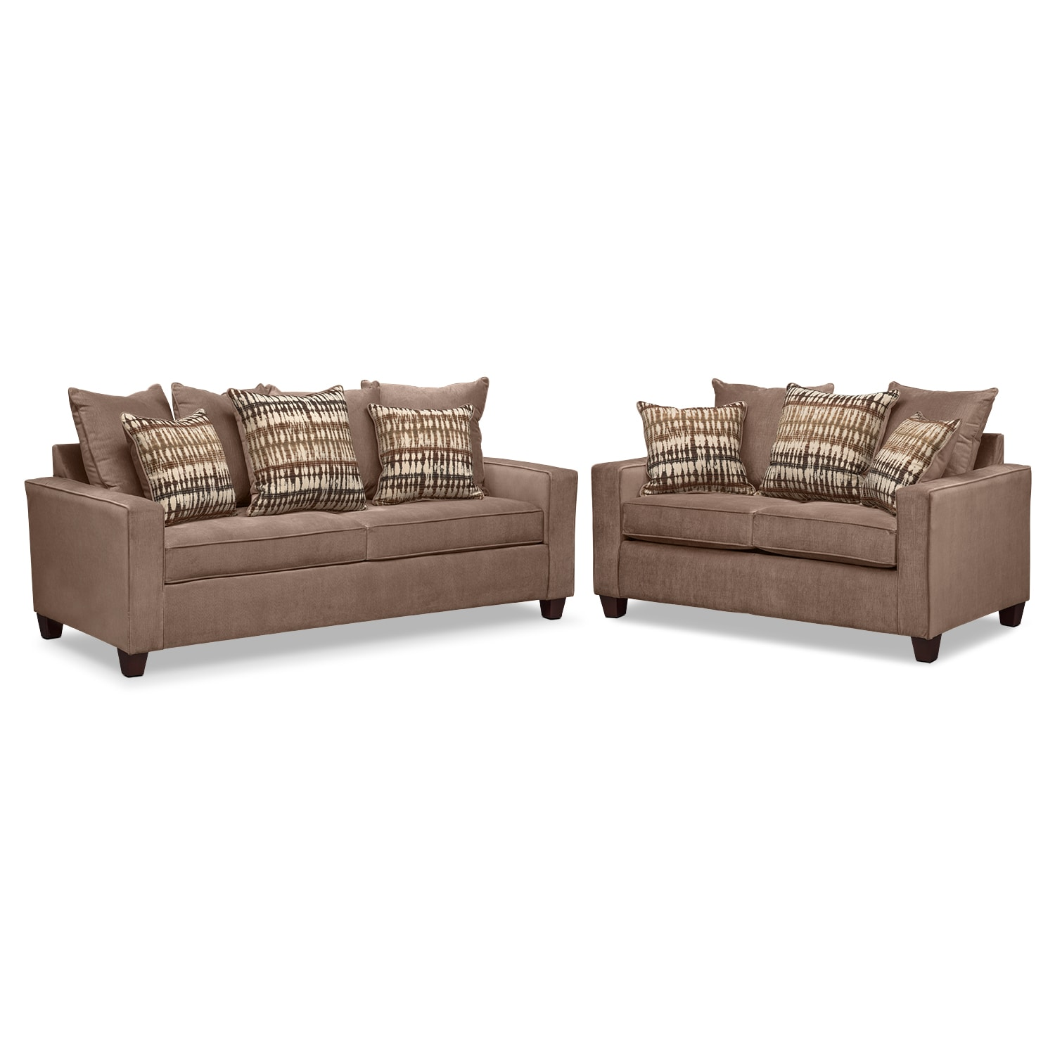 Bryden queen innerspring sleeper sofa and loveseat set for Sectional sofa with recliner and queen sleeper