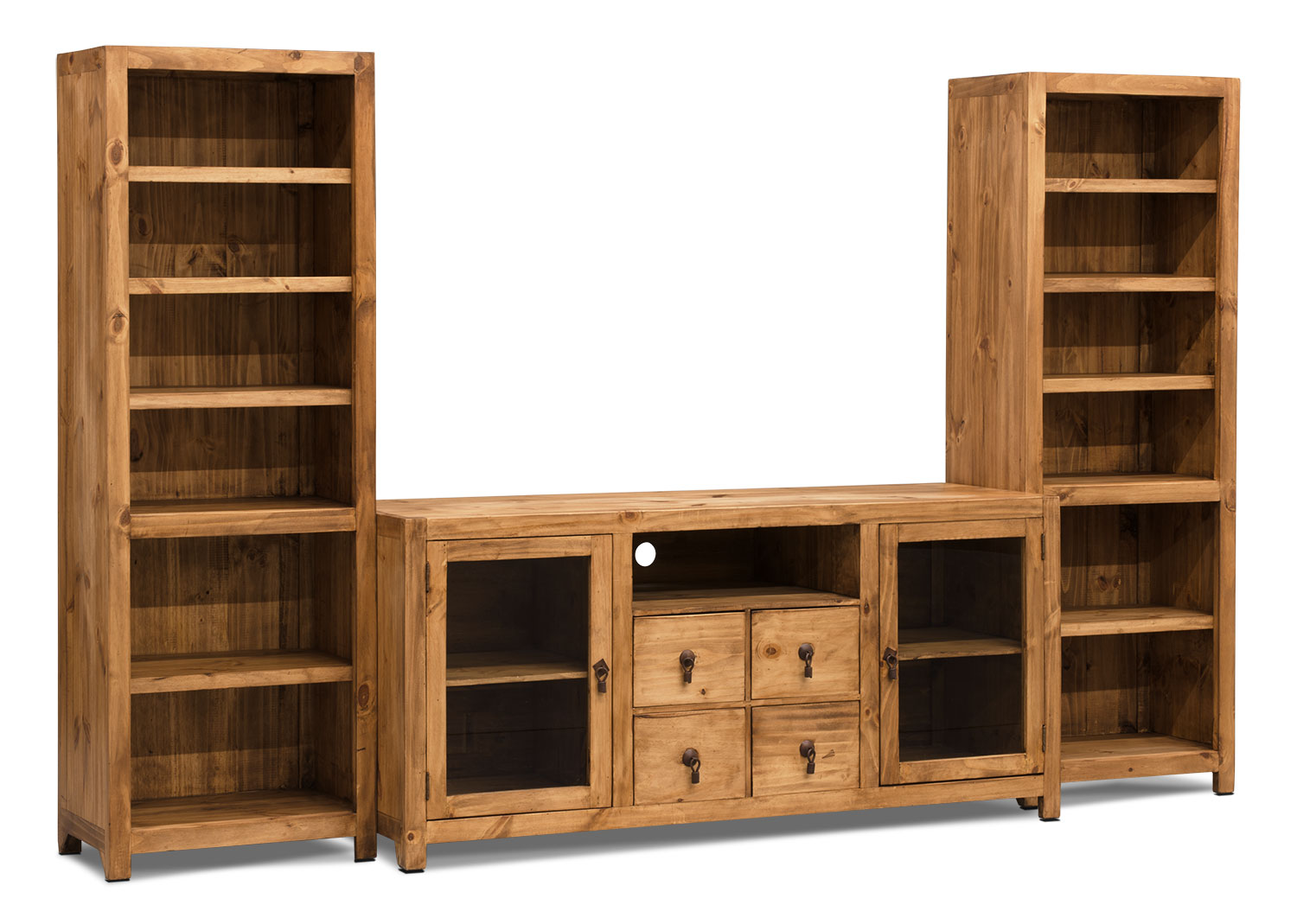 "Santa Fe Rusticos 3-Piece Solid Pine Entertainment Centre with 59"" TV Opening"