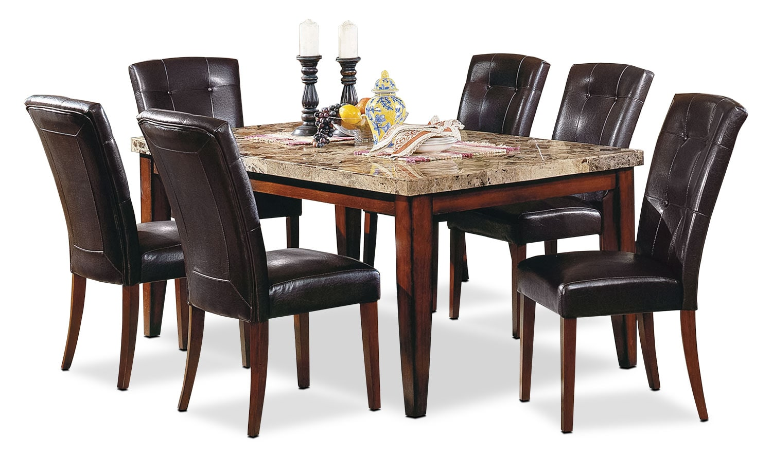 Dining Room Furniture - Montibello Formal 7-Piece Dining Package