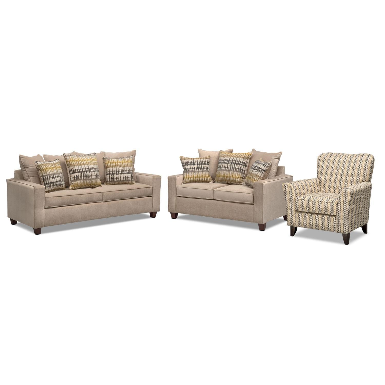 Living Room Furniture Bryden Queen Innerspring Sleeper Sofa