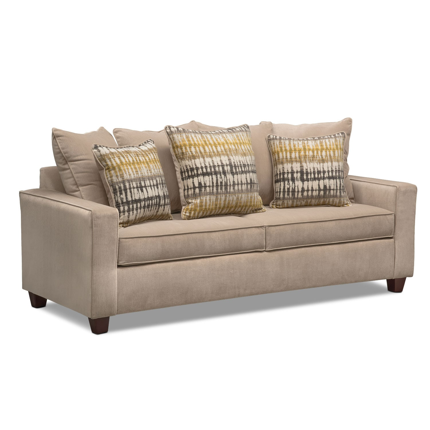Bryden sofa beige american signature furniture for American signature couch