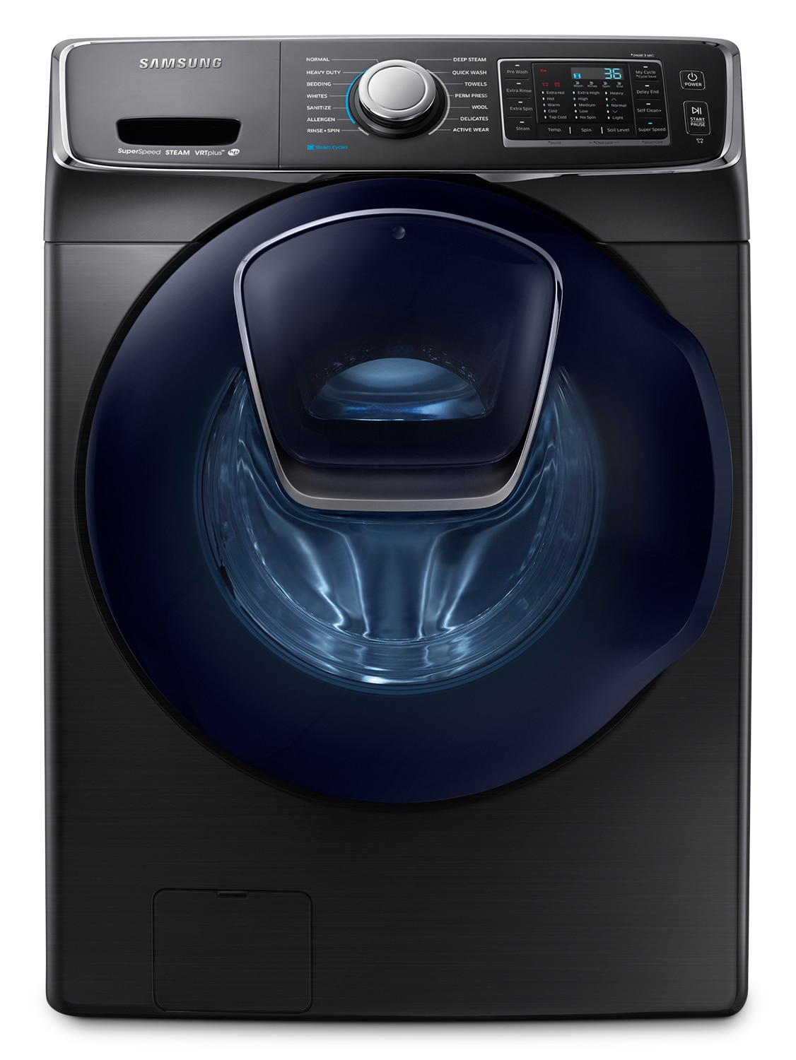 Samsung 5.2 Cu. Ft. Front-Load Washer – Black Stainless Steel WF45K6500AV/A2