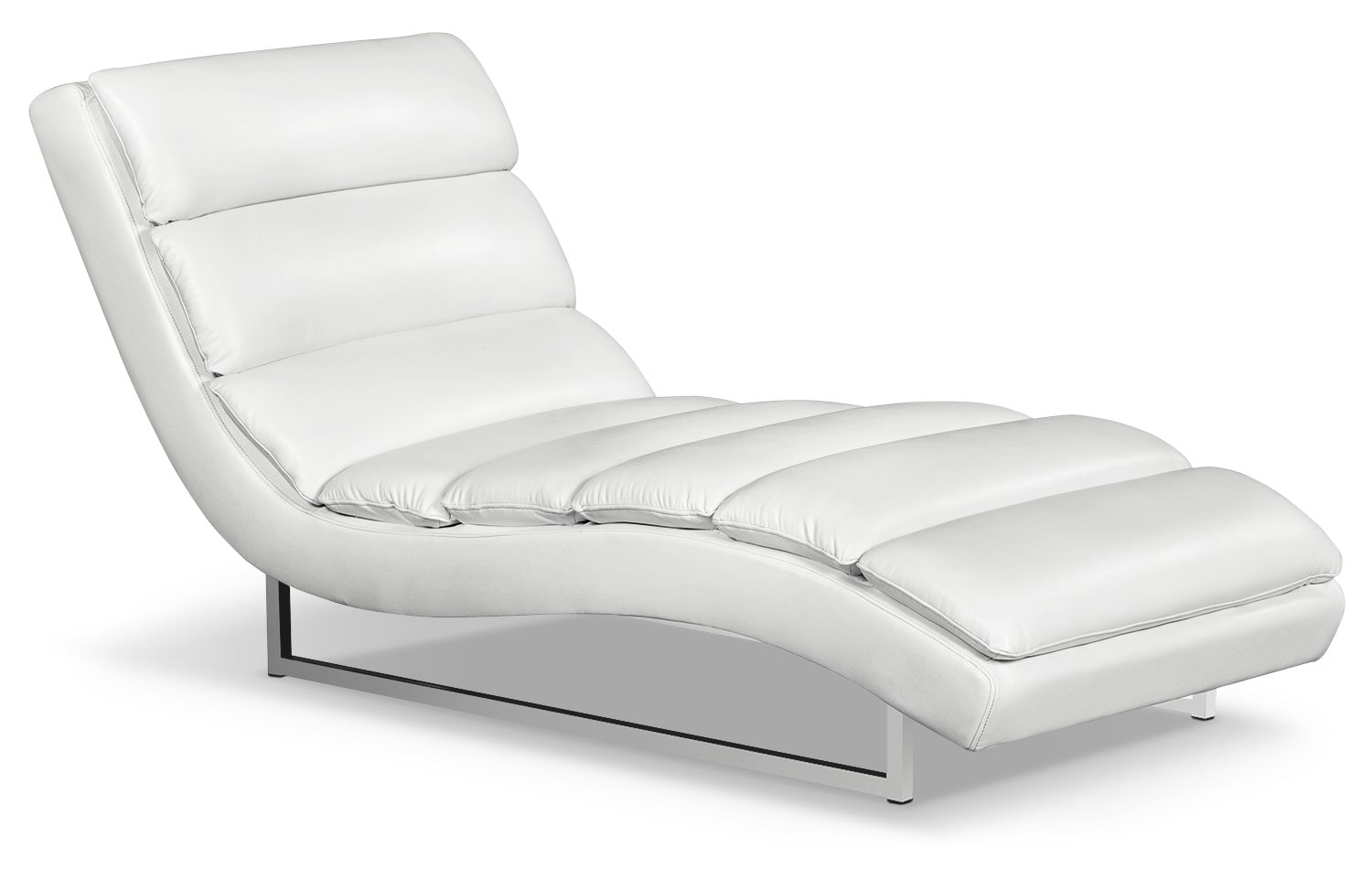Maddy Leather-Look Fabric Chaise – Cream