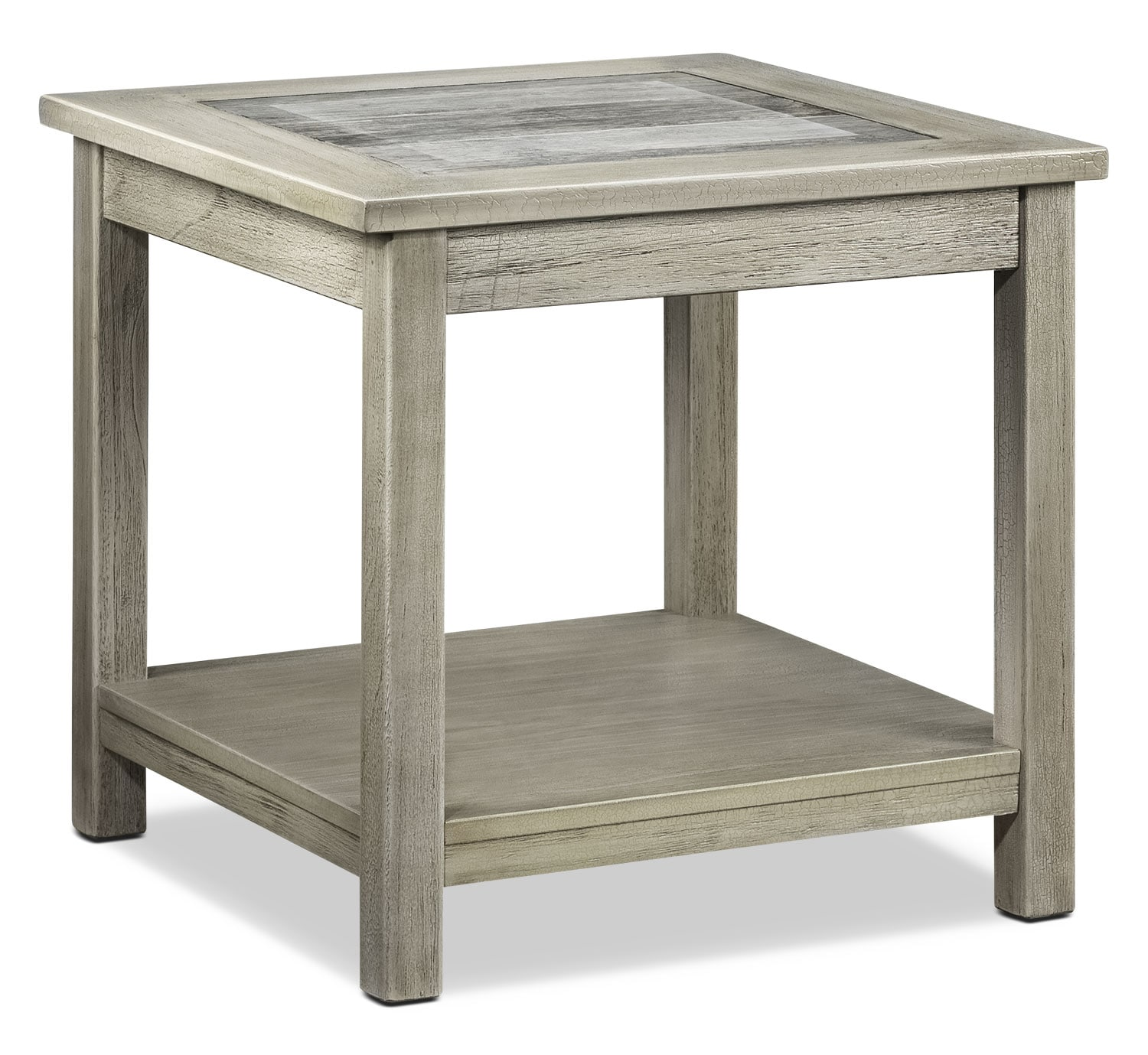 Accent and Occasional Furniture - Thomas End Table - Natural Beige