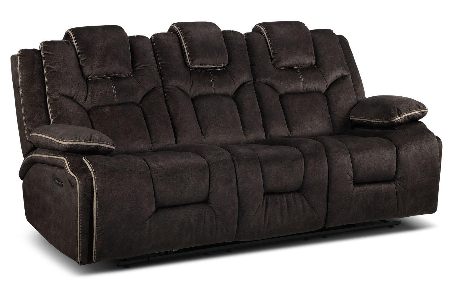 Sondra Power Reclining Sofa - Deep Brown
