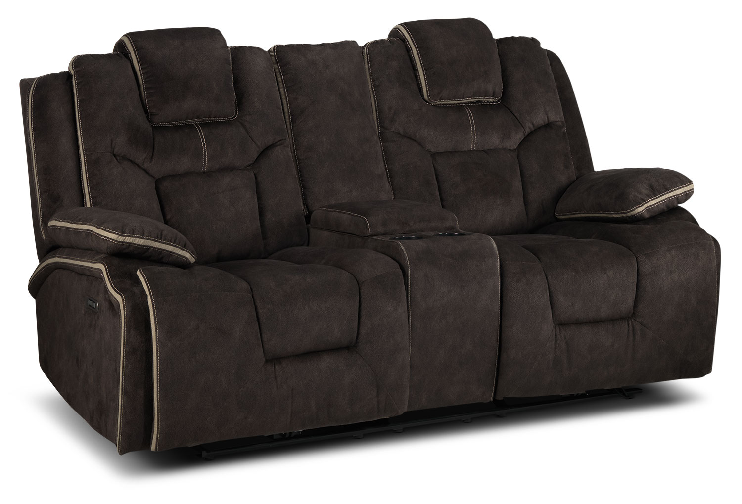 Sondra Power Reclining Loveseat - Deep Brown
