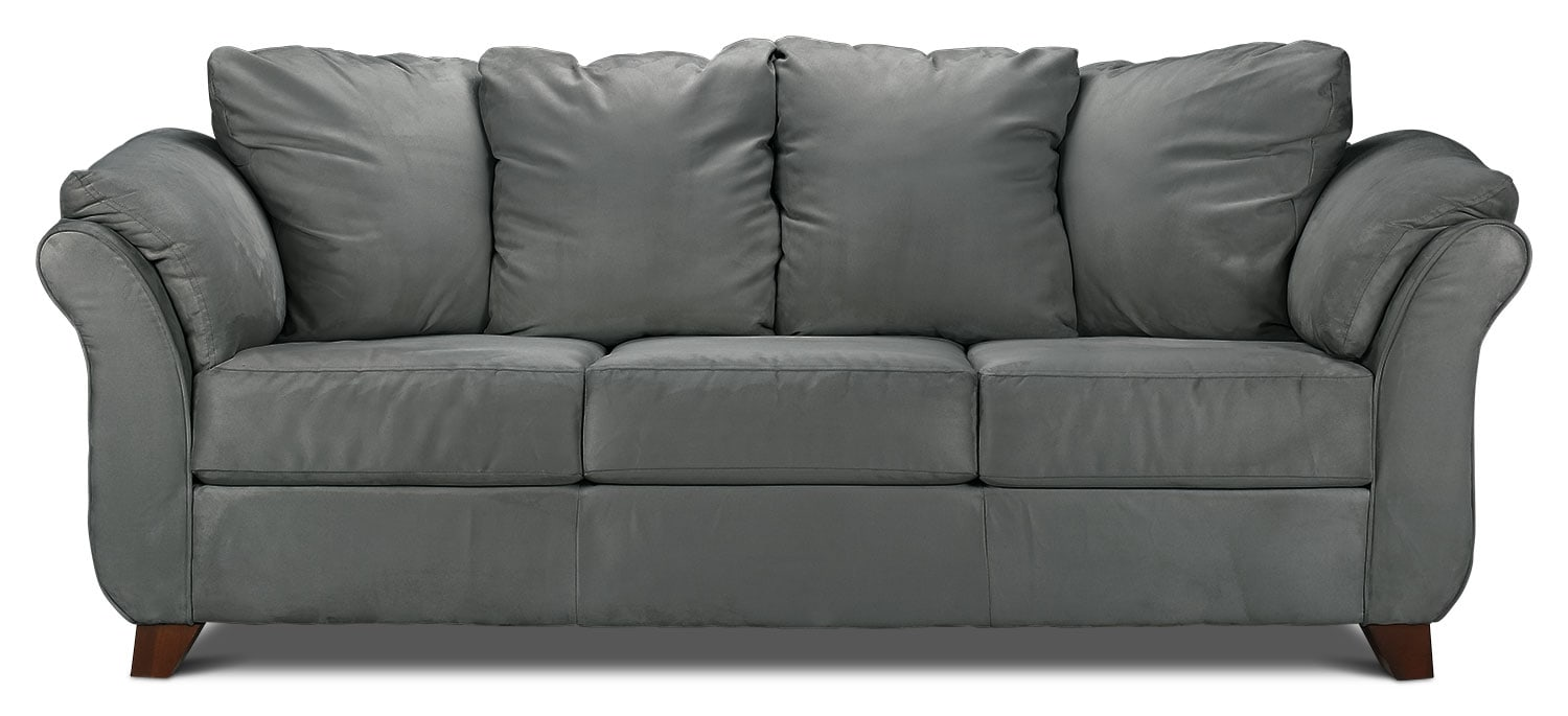 Living Room Furniture - Collier Sofa - Dark Grey