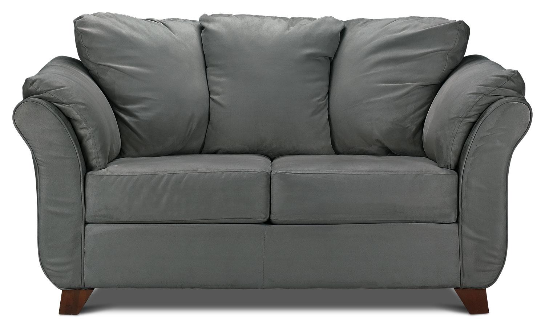 Living Room Furniture - Collier Loveseat - Dark Grey
