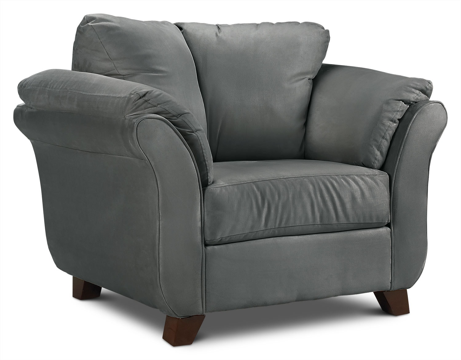 Living Room Furniture - Collier Chair - Dark Grey