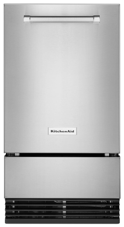 Refrigerators and Freezers - KitchenAid Stainless Steel Ice Maker - KUID308ESS
