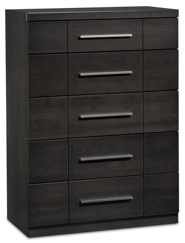 Bedroom Furniture - Seville 6-Drawer Chest - Charcoal