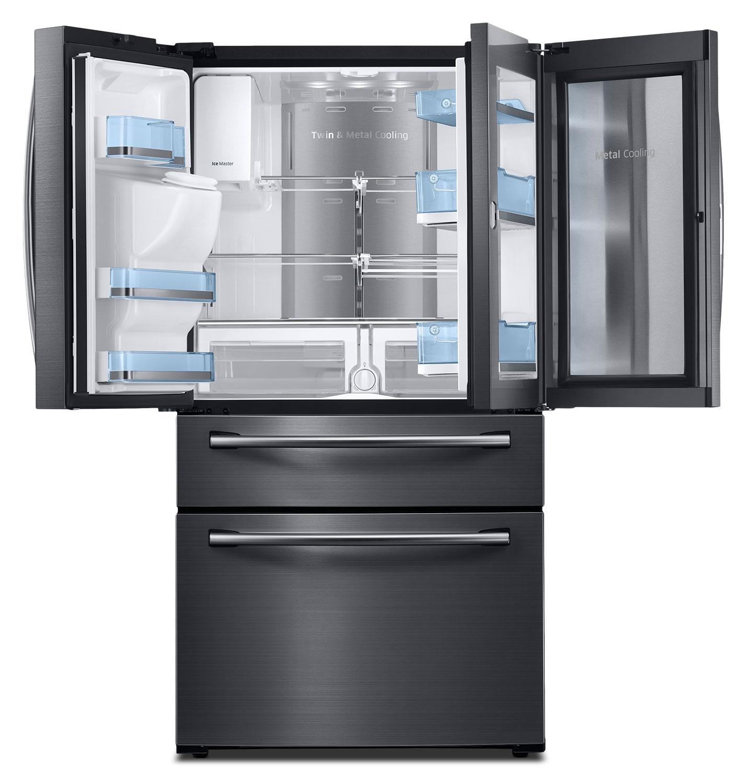 Samsung 27.8 Cu. Ft. French-Door Refrigerator – Black Stainless Steel RF28JBEDBSG/AA   The Brick