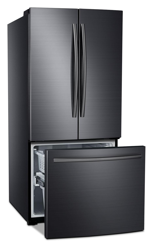 Samsung 22 Cu Ft French Door Refrigerator Black