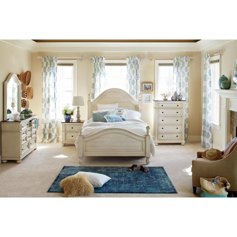 American Freight Furniture Bed Rooms Sets: East Hampton 5-Piece Queen Bedroom Set