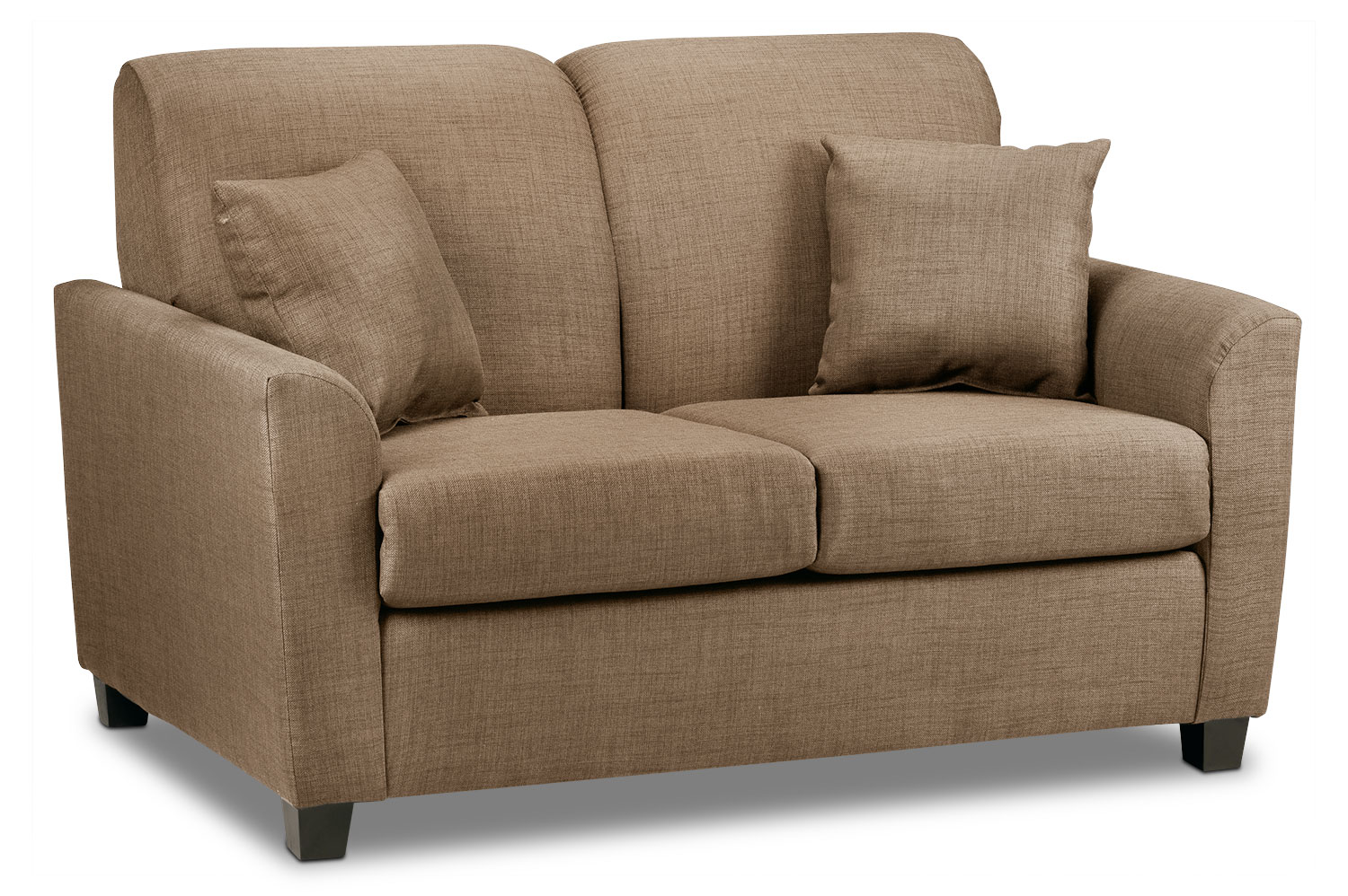 Living Room Furniture - Roxanne Loveseat - Hazelnut