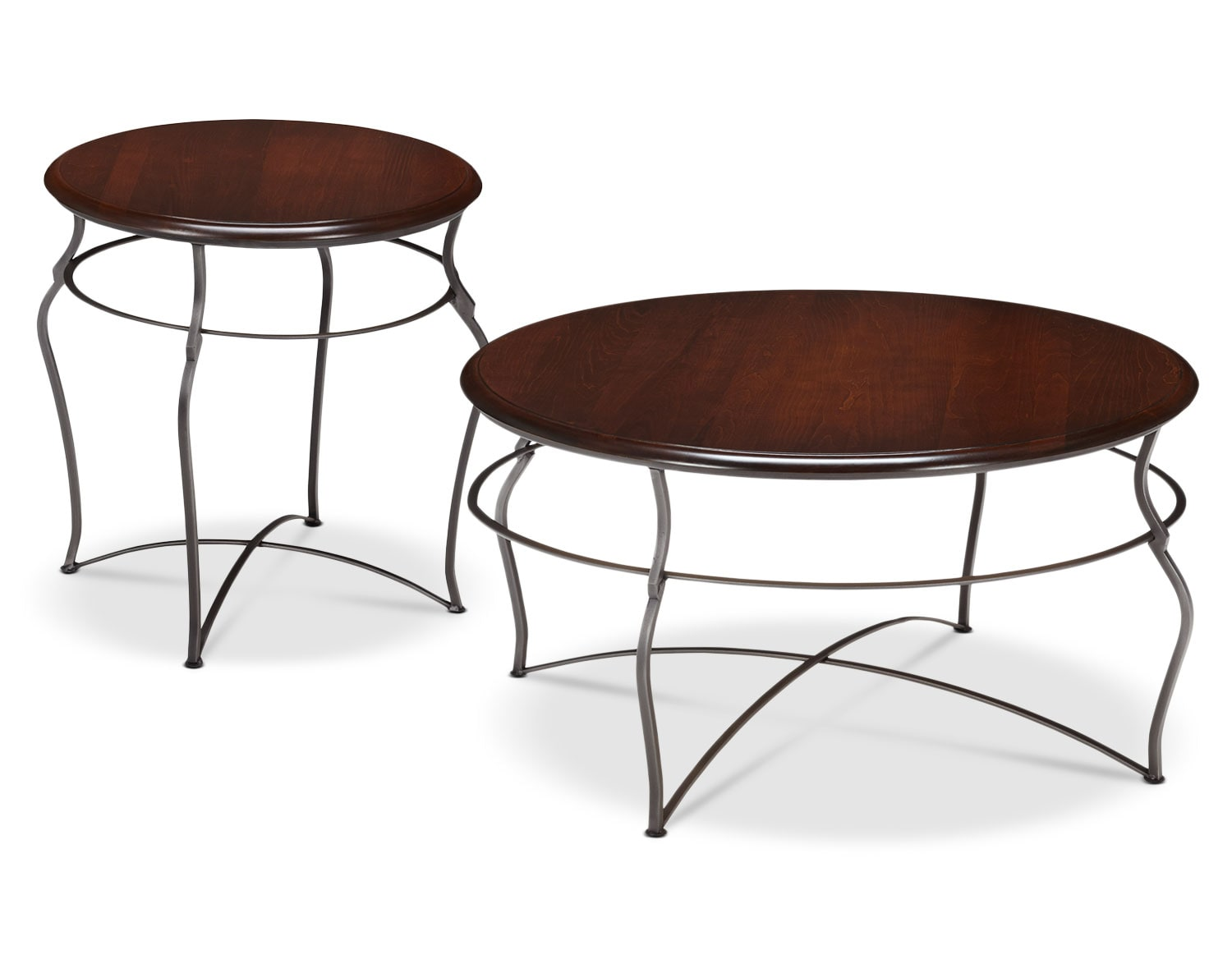 The Adele Collection - Brown Cherry with Pewter Base