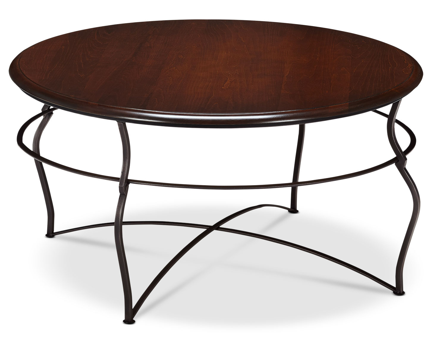 Online Only - Adele Coffee Table - Brown Cherry with Black Base