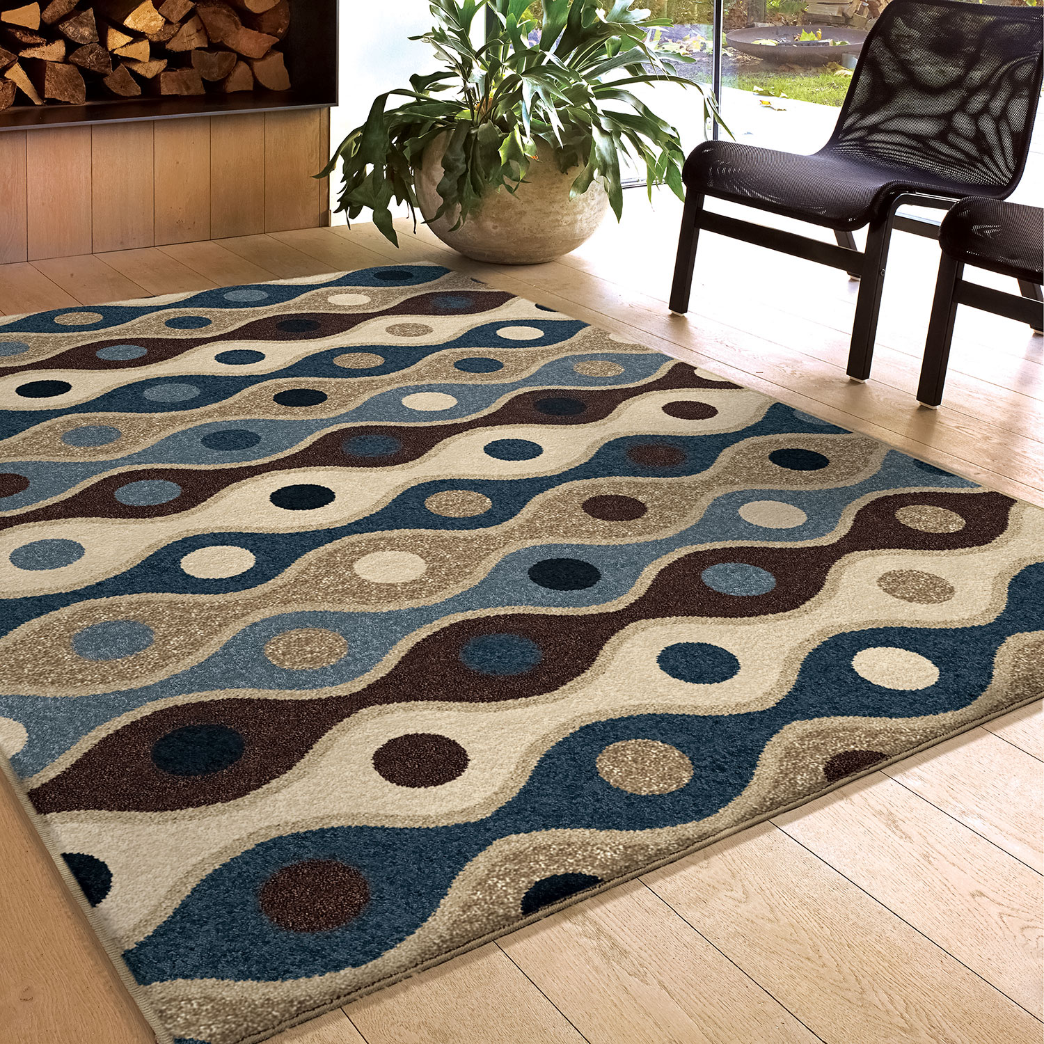 Rugs - Iris Blue Area Rug – 5' x 8'
