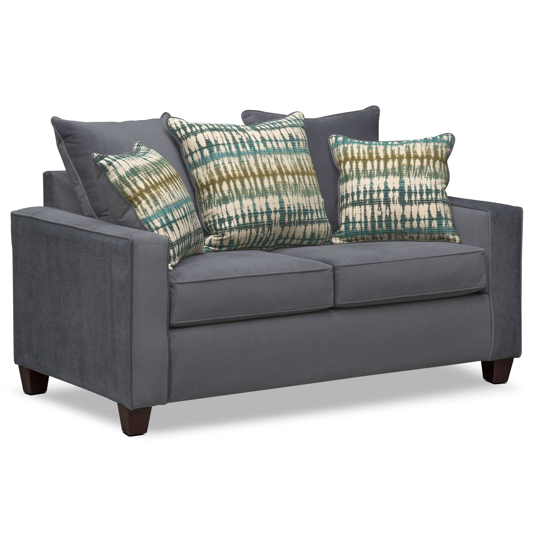 Bryden Queen Innerspring Sleeper Sofa And Loveseat Set Slate Value City Furniture