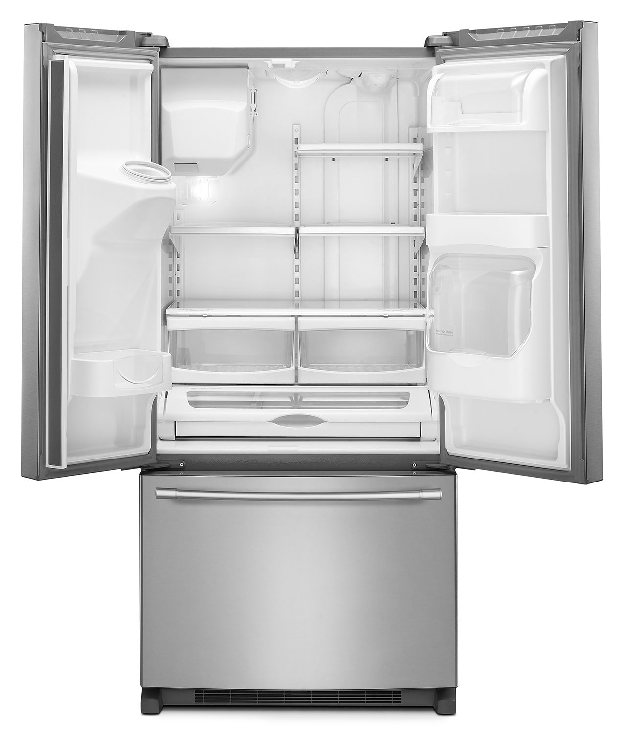 Maytag Fingerprint Resistant Stainless Steel French Door Refrigerator (22  Cu. Ft.)   MFI2269FRZ