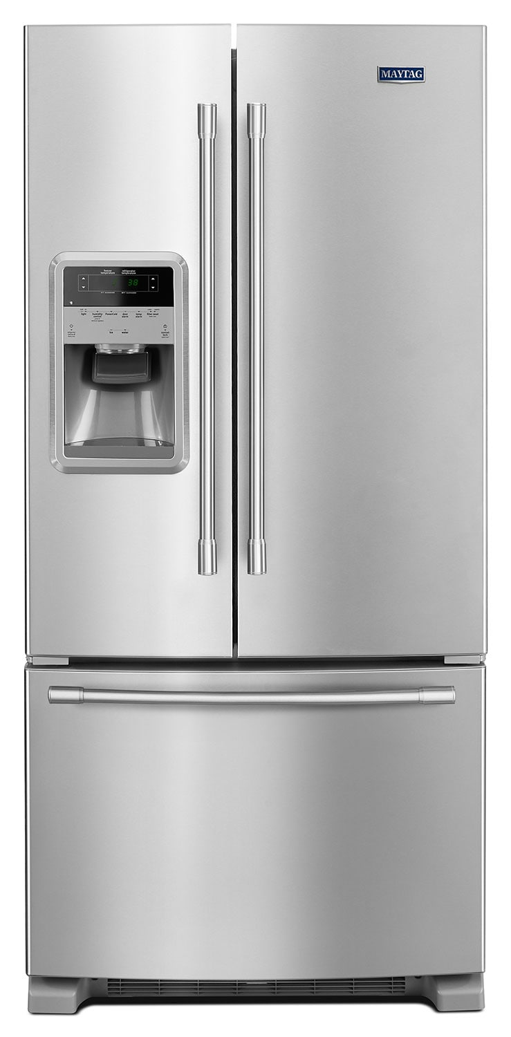 Refrigerators and Freezers - Maytag Fingerprint-Resistant Stainless Steel French Door Refrigerator (22 Cu. Ft.) - MFI2269FRZ