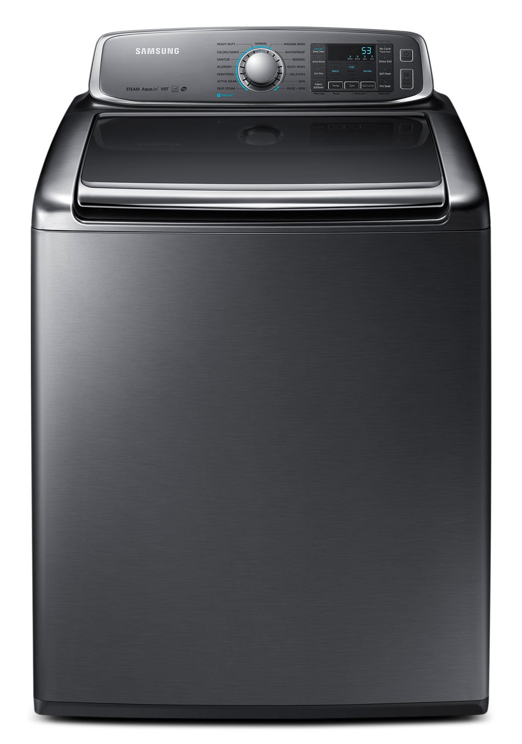Washers and Dryers - Samsung Platinum Top-Load Washer (6.5 Cu. Ft. IEC) - WA56H9000AP