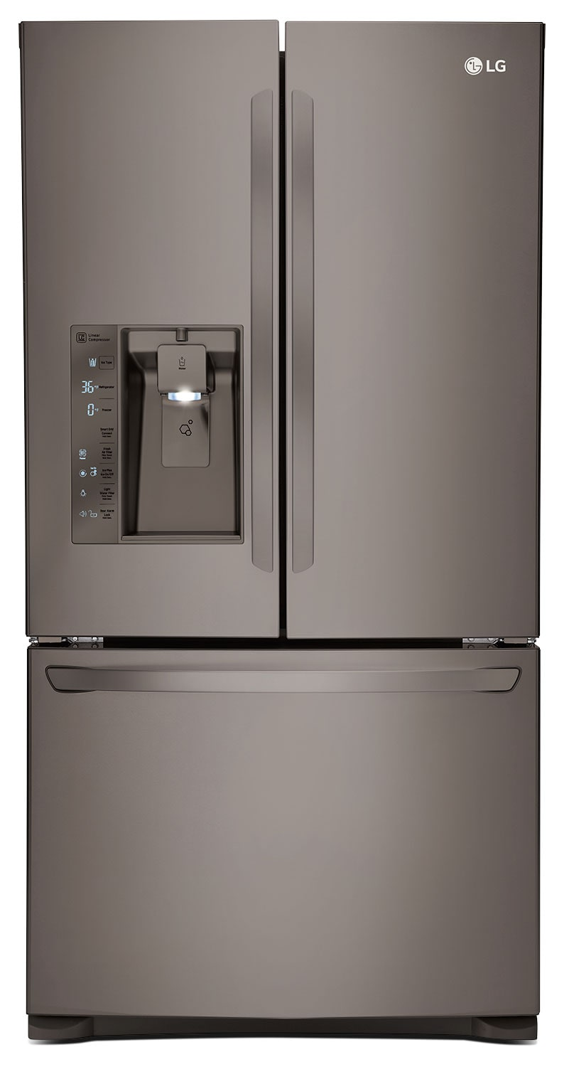 Refrigerators and Freezers - LG Appliances Black Stainless Steel French Door Refrigerator (24 Cu. Ft.) - LFXC24726D
