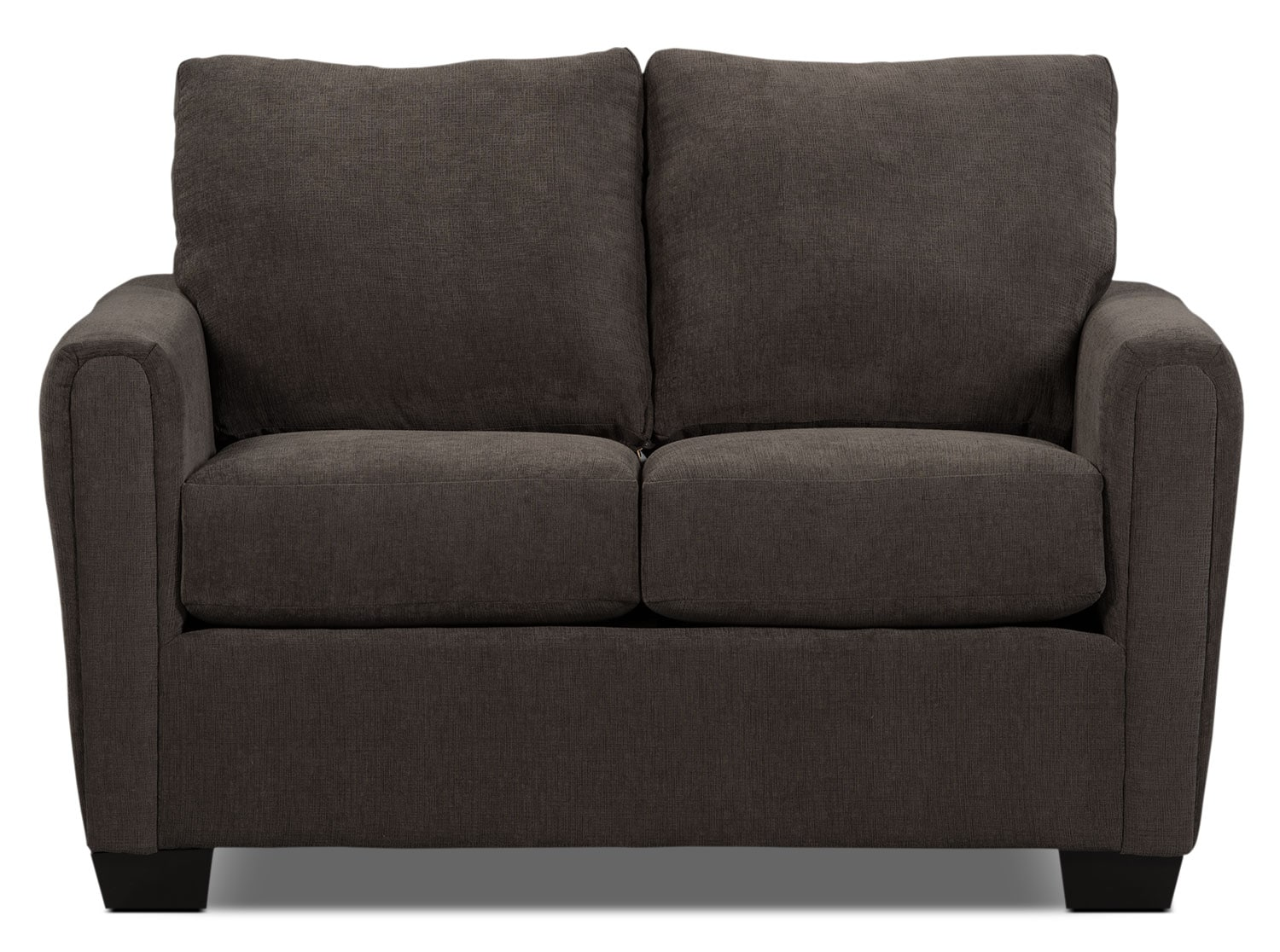 Spa Collection Chenille Condo Sofa Charcoal The Brick
