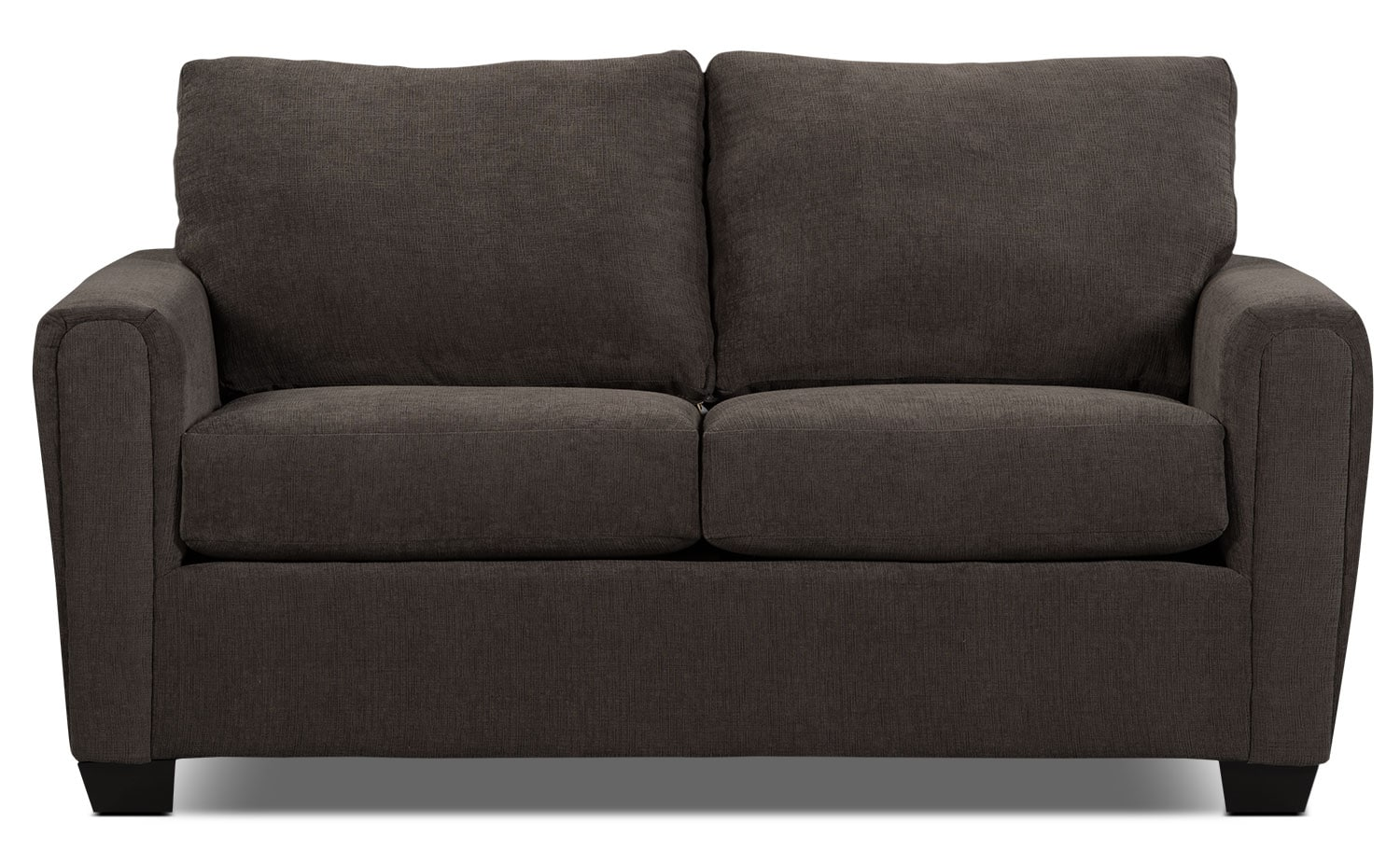 Living Room Furniture - Spa Collection Chenille Condo Sofa – Charcoal