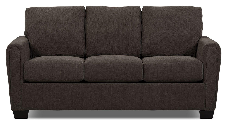 Sofa-lit double de la collection Spa en chenille avec matelas - anthracite