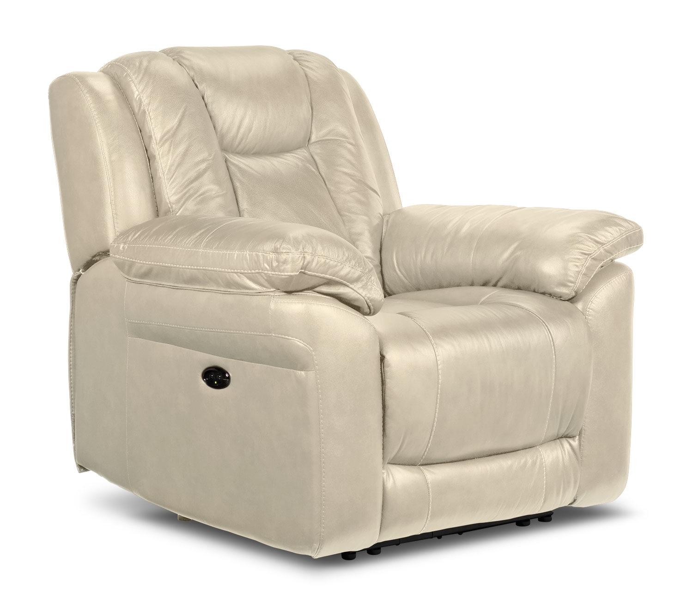 Living Room Furniture - Plato Power Recliner - Pebble