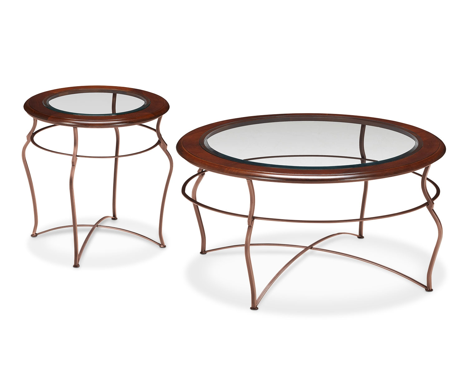 The Adele Collection - Glass Top with Copper Base