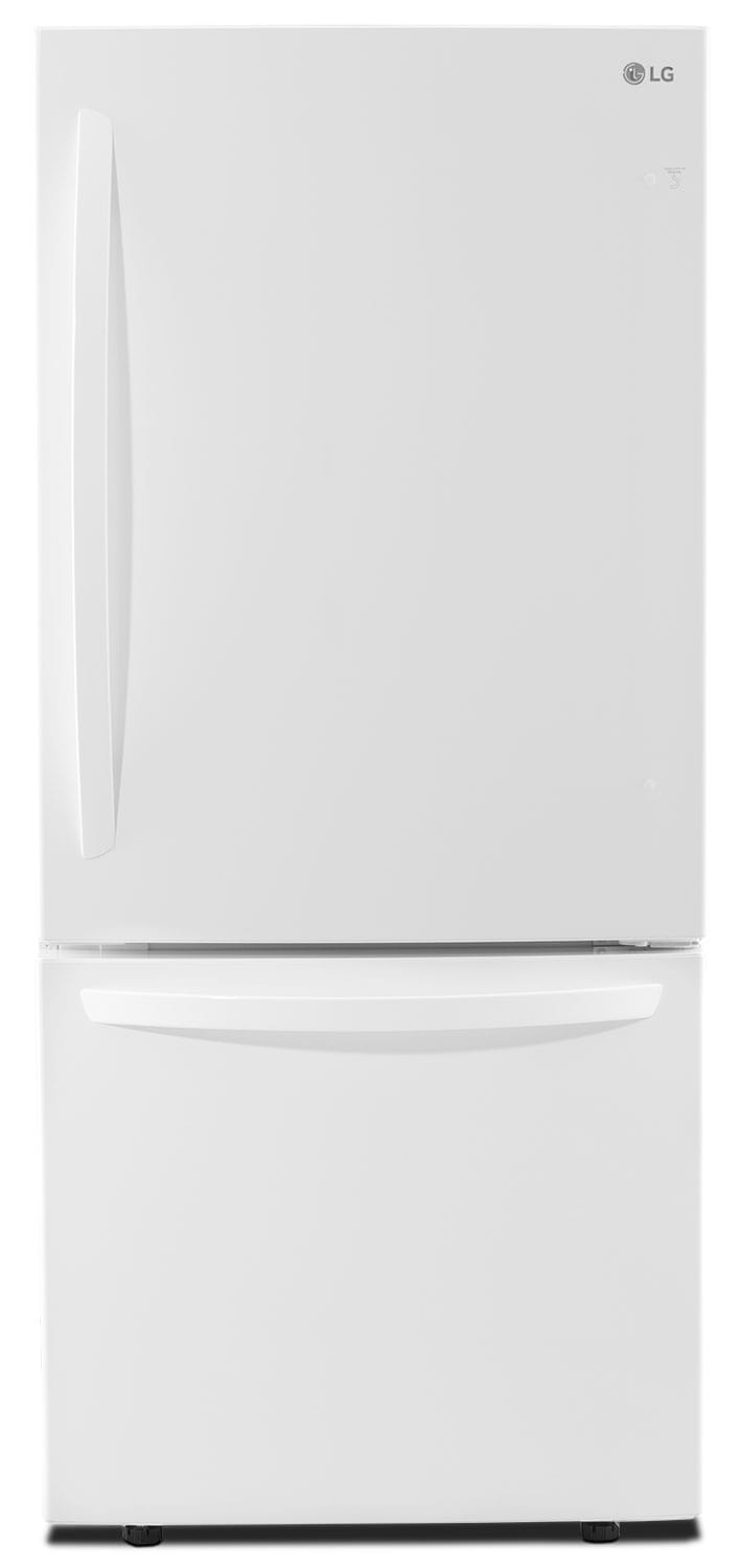Refrigerators and Freezers - LG 22 Cu. Ft. Energy Star® Bottom-Mount Refrigerator – LDNS22220W