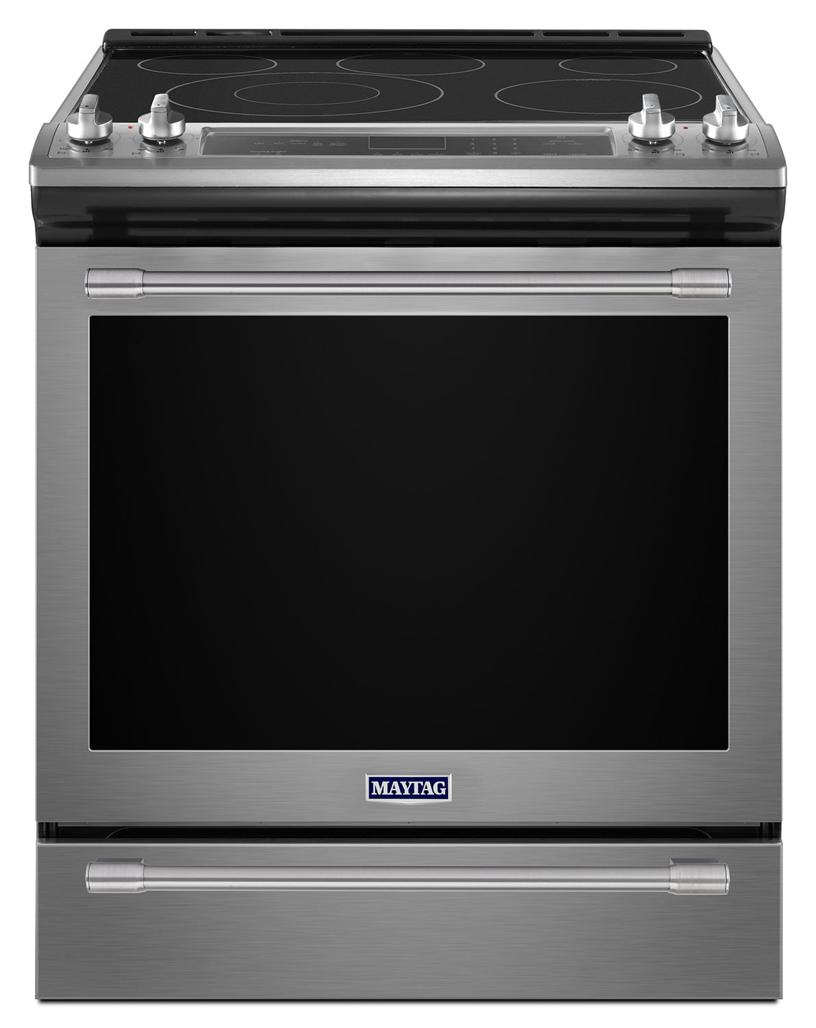 Cooking Products - Maytag Stainless Steel Slide-In Electric Convection Range (6.4 Cu. Ft.) - YMES8800FZ