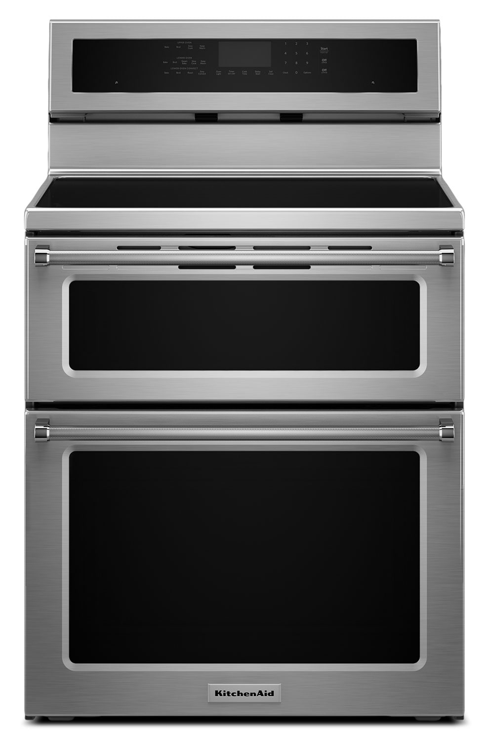 Cooking Products - KitchenAid Stainless Steel Freestanding Electric Double Range (6.7 Cu. Ft.) - YKFID500ESS