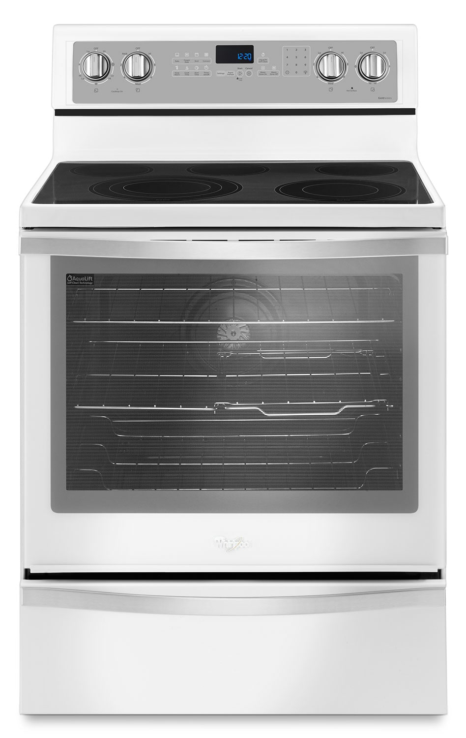 Cooking Products - Whirlpool White Freestanding Electric Range (6.4 Cu. Ft.) - YWFE745H0FH