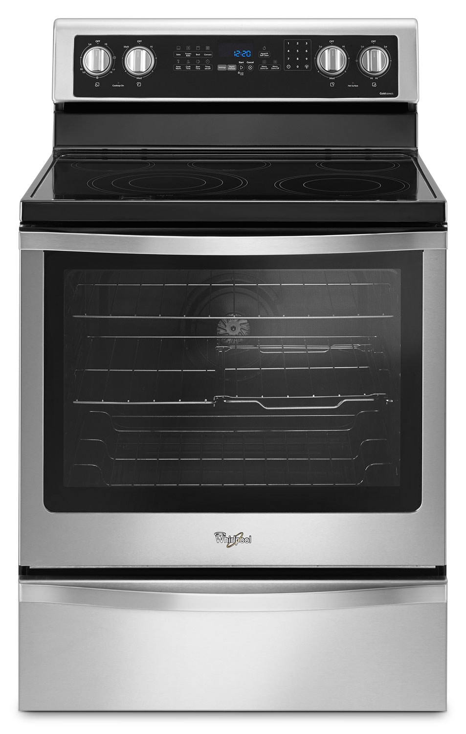 Whirlpool Stainless Steel Freestanding Electric Range 6 4 Cu Ft Ywfe745h0fs Leon 39 S