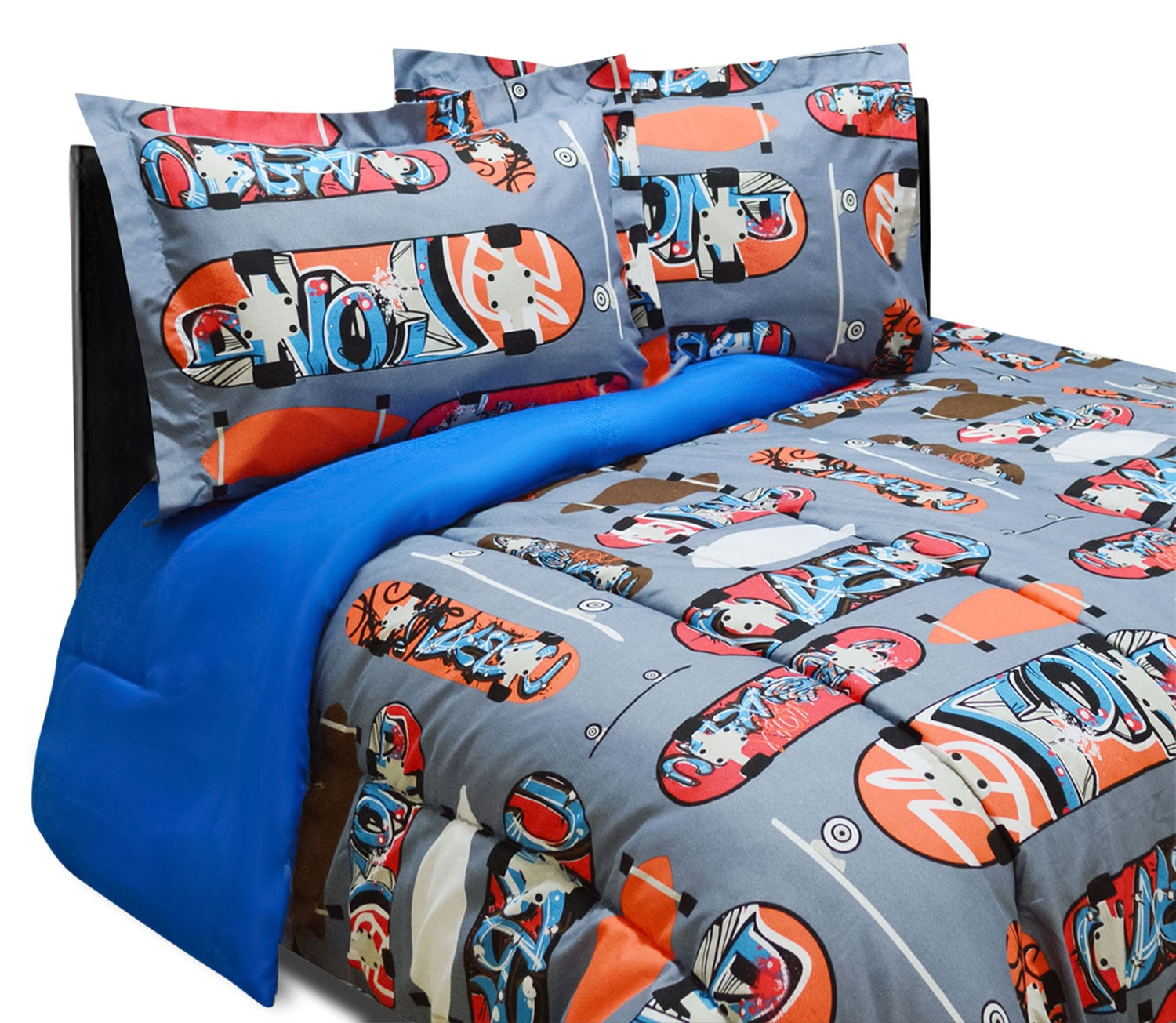 Boards 3-Piece Full Comforter Set