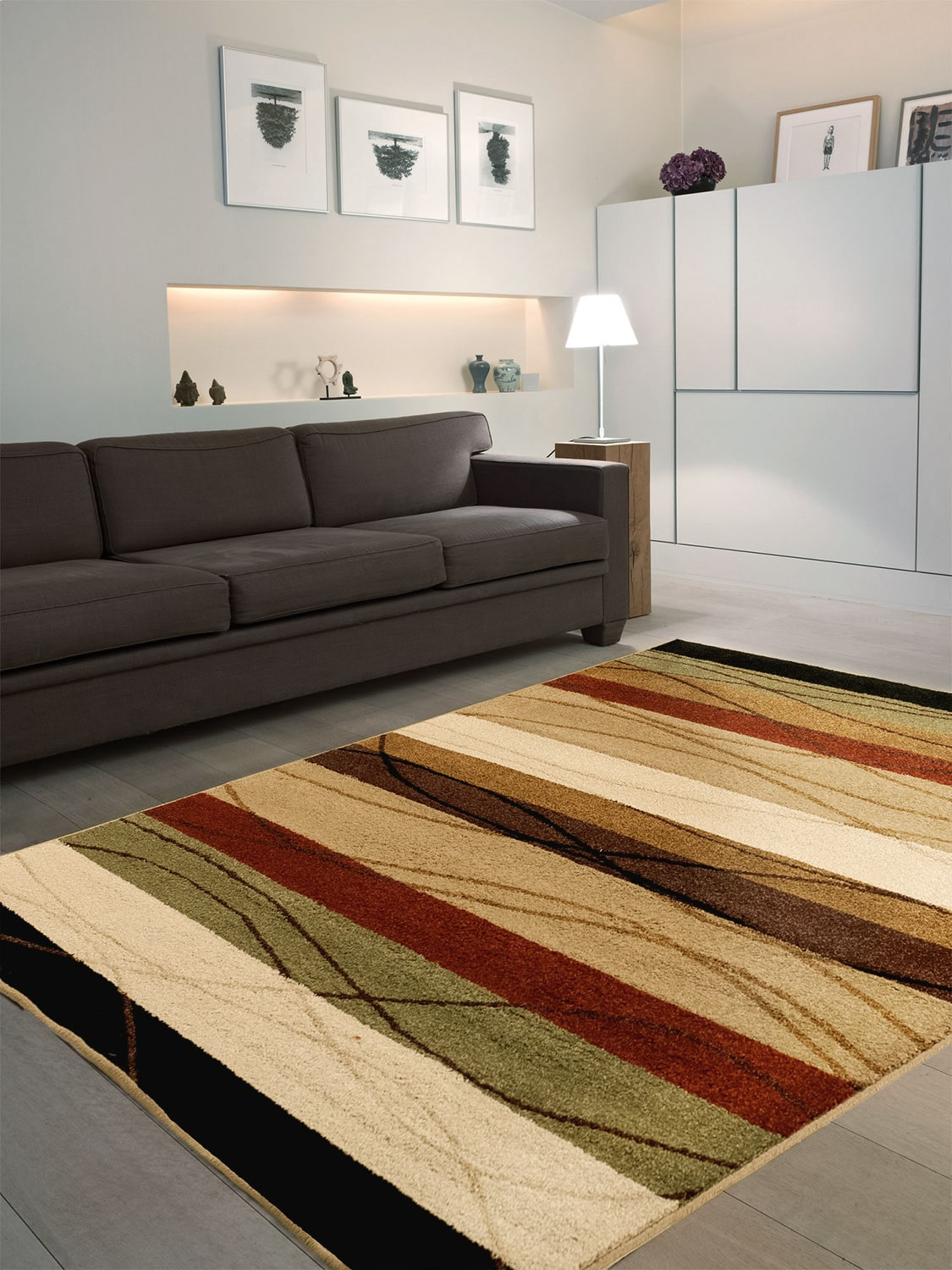 Rugs - Tonal Striped Area Rug – 5' x 8'